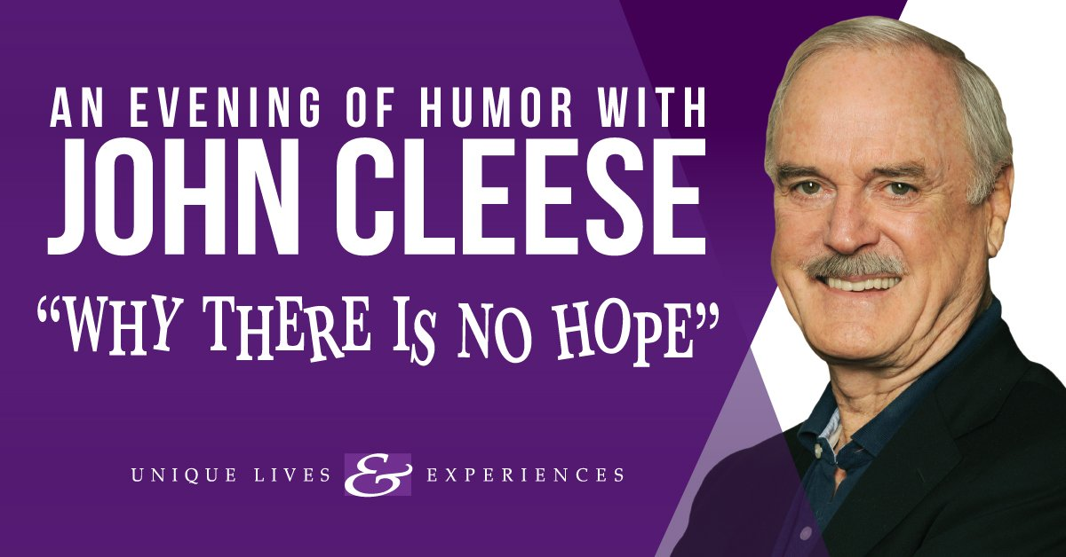 John Cleese at the Basie Center's Hackensack Meridian Health Center in Red Bank – October 7th!