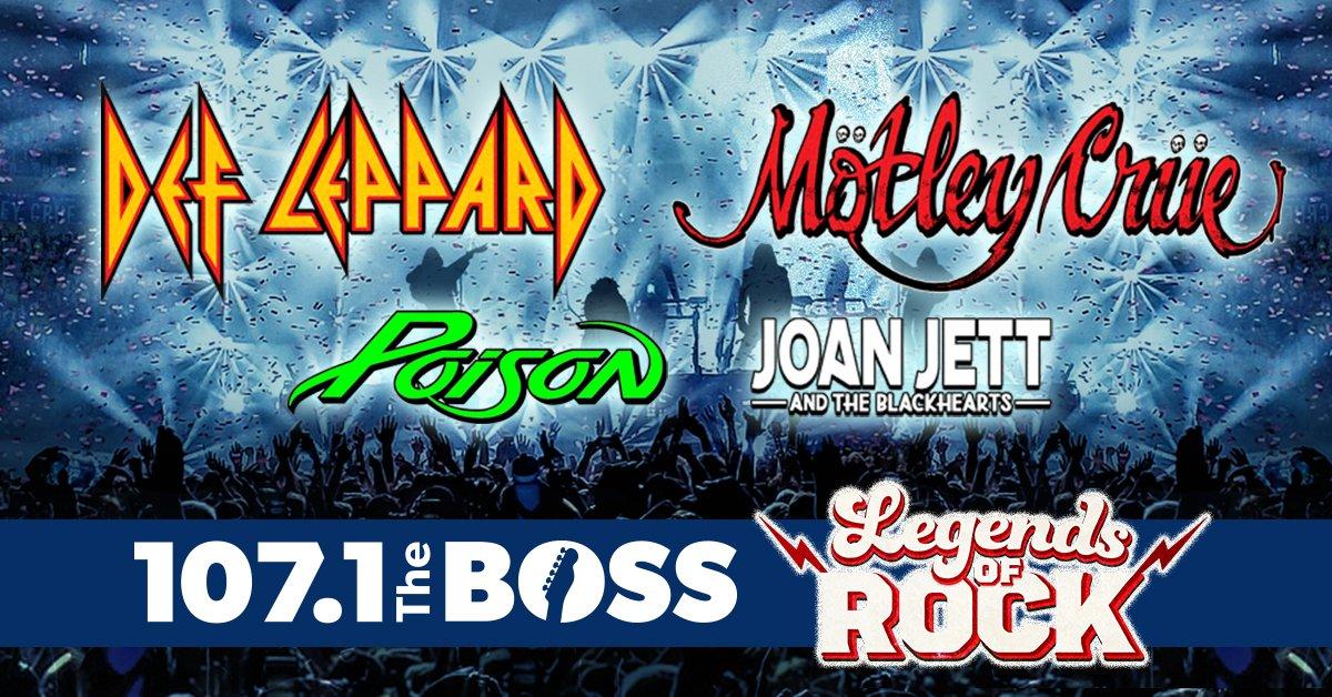 'Legends of Rock': Def Leppard, Motley Crüe, Poison and Joan Jett & The Blackhearts